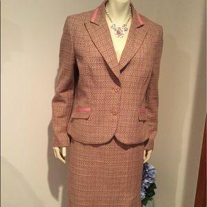 Travis Ayers Studio Pink Tweed Suit